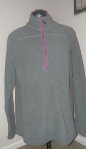 Eddie Bauer grey fleece pullover
